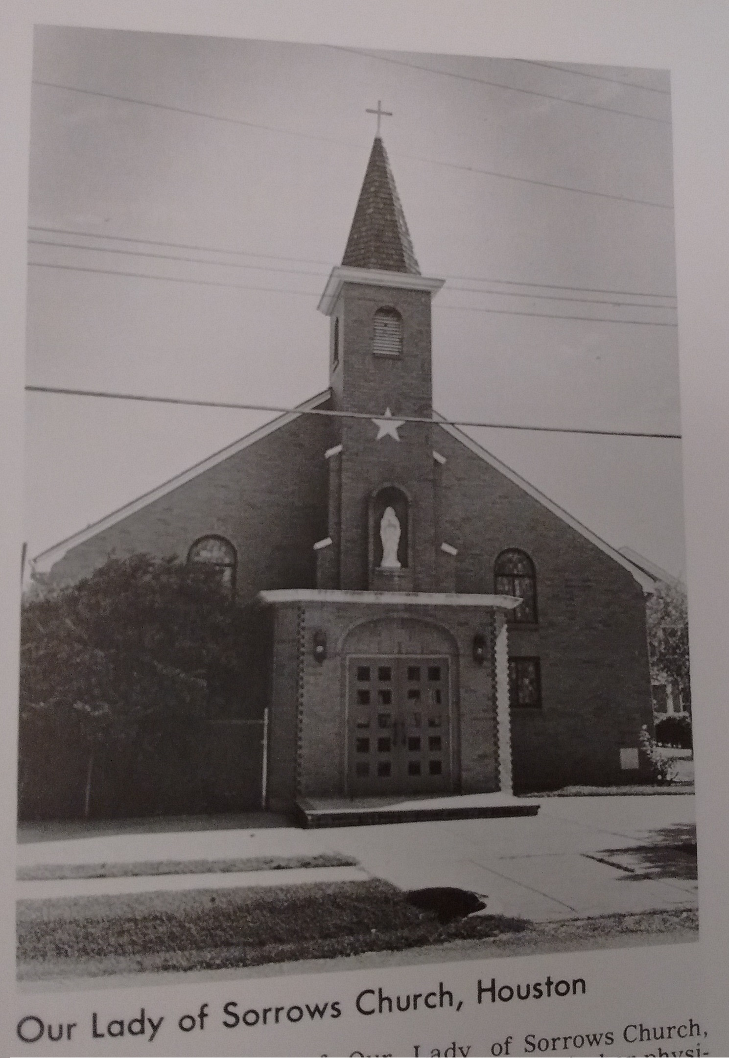 Photo of Our Lady of Sorrows Church circa 1970